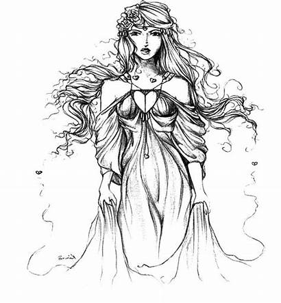 Aphrodite Coloring Fantasy Pages Scifi Adults Sci