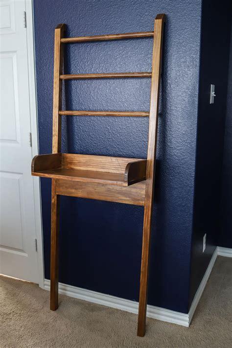 diy leaning ladder shelf   bathroom room makeovers