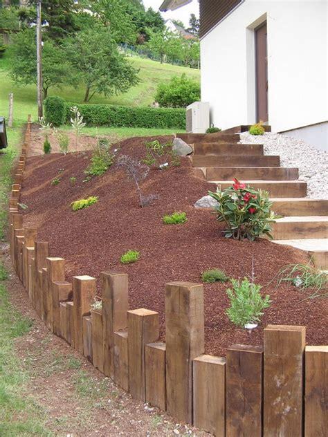 evasion jardin paysagiste r 233 f 233 rences escalier bois et pav 233 s
