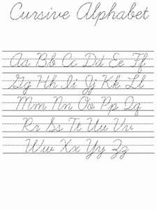 Cursive Alphabet Practice Sheet