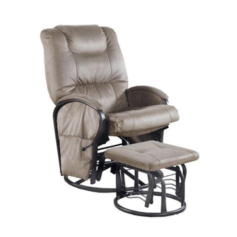 swivel rocker recliner with ottoman monarch padded microfiber swivel rocker recliner with