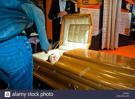 Shocking video of a bride killed just before marriage in an air crash. Paris, France, Woman Laying in Casket at Death Trade Show ...