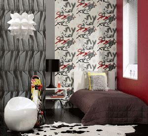 black color bedroom wall decorating  teens