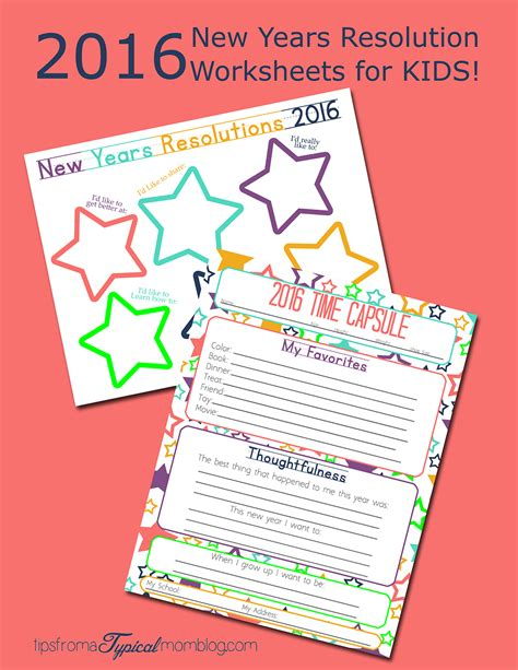making new years resolutions with your kids free printable worksheets tips from a typical mom