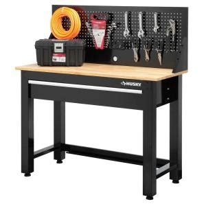 canadian tire kitchen faucets husky 4 ft solid wood top workbench with storage g4801s