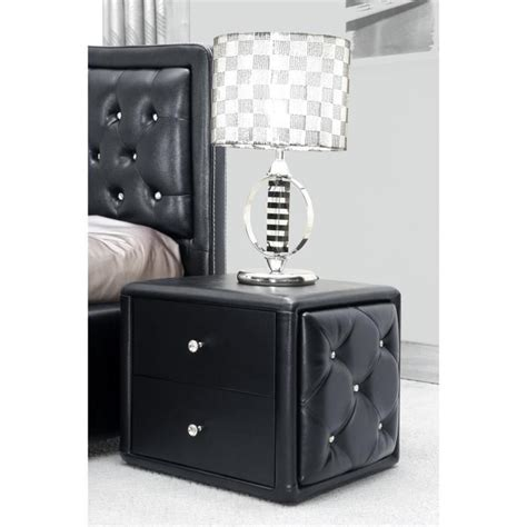 Table De Nuit Noir by Table De Nuit Capitonn 233 E De Strass Achat Vente