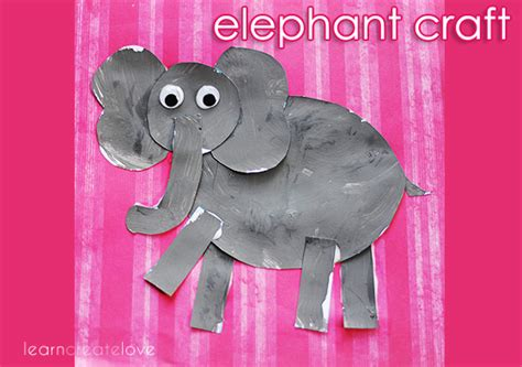 elephant craft with printable 386 | cowhrs 105