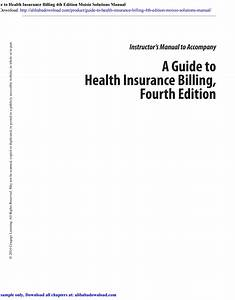 Guide To Health Insurance Billing 4th Edition Moisio