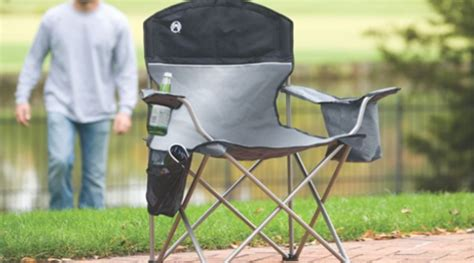 Coleman Oversized Padded Chair Side Cooler by Coleman Oversized Chair With Built In Cooler Up To 60