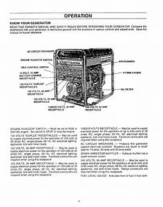 Know Your Generator  Operation
