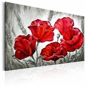 Blumen Bilder Gemalt : leinwand bilder xxl kunstdruck bild mohn blumen wie gemalt b b 0163 b a ebay ~ Orissabook.com Haus und Dekorationen