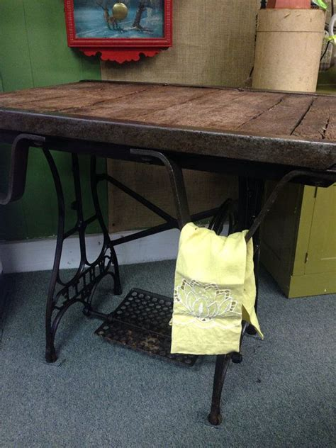 Vintage Industrial Factory Cart Sewing Base Steampunk Cast