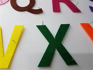 Felt uppercase alphabet cut outs righttolearncomsg for Felt cut out letters
