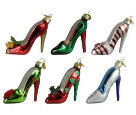 set of 6 fashion avenue ladies high heel stiletto shoe glass christmas ornaments ebay