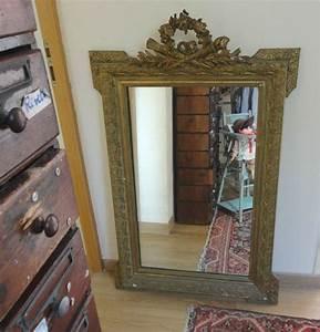 Miroir Doré Ancien : grand miroir dor ancien de chemin e et petit miroir xix me patin papou ponce mamou pique ~ Teatrodelosmanantiales.com Idées de Décoration