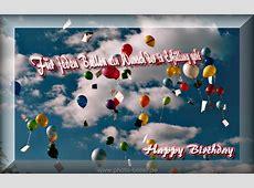 Geburtstag Bild viel bunte Luftballons am Himmel gratis