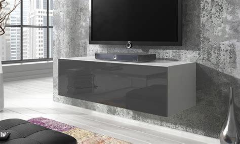 meuble tv suspendu groupon