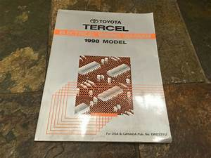1998 Toyota Tercel Wiring Diagrams Electrical Service
