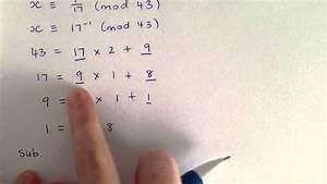 Modulo Inverse Berechnen : extended euclidean algorithm and inverse modulo tutorial youtube ~ Themetempest.com Abrechnung