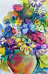 Flowers That Pop Art Painting by Therese Fowler-Bailey