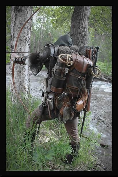 Fantasy Ranger Medieval Backpack Larp Armor Leather