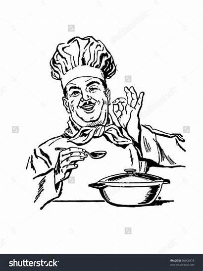 Chef Clip Italian Retro Cooking Clipart Vector