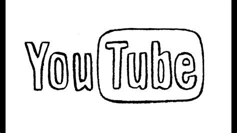 draw  youtube logo symbol emblem youtube