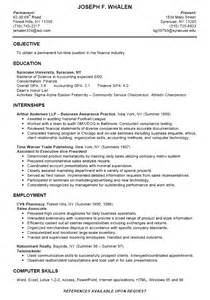 resume template for high student internship college finance