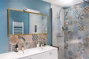 le carrelage douche sous toutes ses couleurs With salle de bain design avec décoration thème de la mer