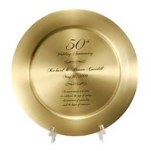 50th wedding anniversary favors 50th anniversary solid brass keepsake plate
