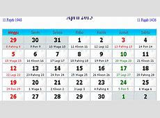 Kalender Indonesia April 2015 Kalender Indonesia 2017