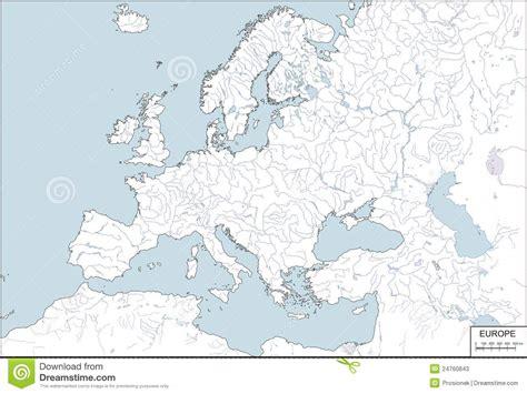europe contour map vector illustration stock