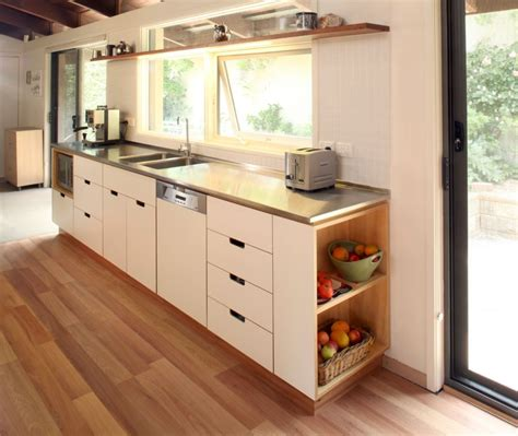 select custom joinery plywood kitchen  white osmo oil