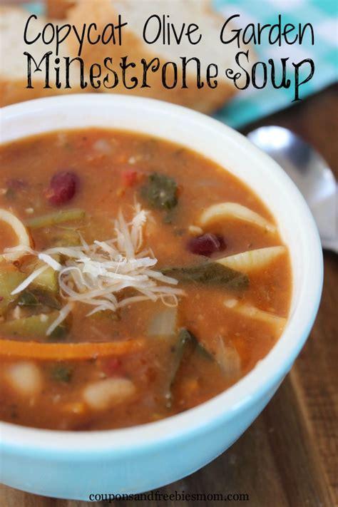 olive garden minestrone soup copycat olive garden minestrone soup coupons and