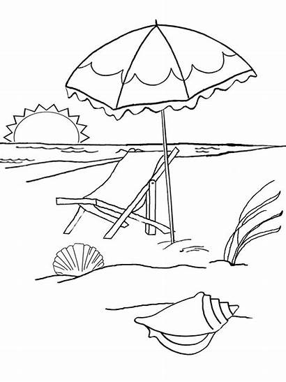Sunset Beach Coloring Printable