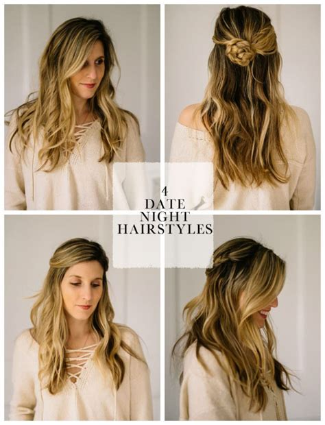 simple hair style 4 easy date hair styles for busy lynzy co 6822
