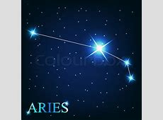 Vector of the aries zodiac sign of the beautiful bright