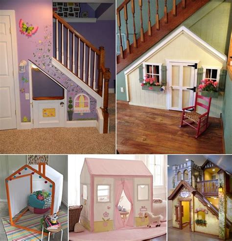 fun  cool indoor playhouse ideas   kids