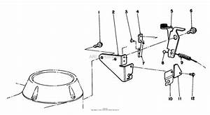 Toro 83300  Fuel Tank  1989 Parts Diagram For Brake Assembly