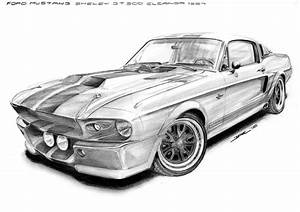 Ford Mustang Shelby Gt500 67 poster