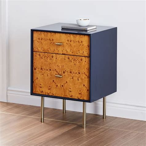 Nightstand West Elm by Modernist Wood Lacquer Nightstand Sky West Elm