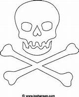 Pirate Skull Flag Coloring Jolly Roger Printable Pirates Pages Drawing Bones Template Halloween Flags Signs Forgot Theme Ashley Crafts Activities sketch template