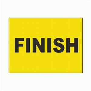 Finish Sign