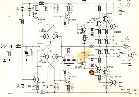 electronic circuit projects how to make a hi fi 100 watt lifier circuit using 2n3055
