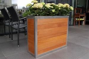 Blumenkübel Als Raumteiler : exklusiver pflanzk bel raumteiler holz mit edelstahlrahmen ~ Michelbontemps.com Haus und Dekorationen