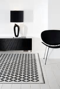black and white tile floor car interior design