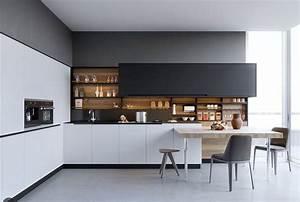 Küchen L Form Modern : sch ne wei e k chen design ideen avec k che modern schwarz wei et k c3 bcchen wei c3 9f schwarz ~ Watch28wear.com Haus und Dekorationen