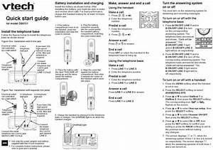 Vtech Ds6151 Quick Start Manual Pdf Download