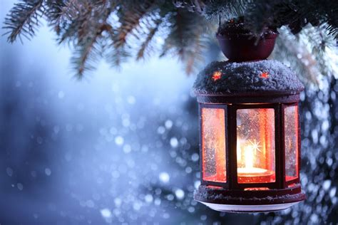 new year merry christmas lantern winter snow candle new