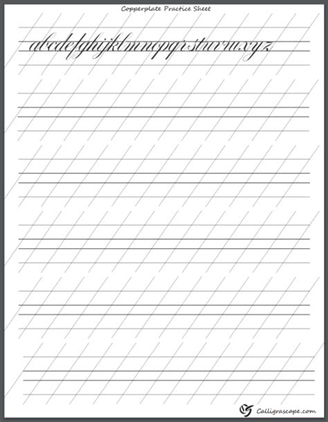 4 free printable calligraphy practice sheets pdf